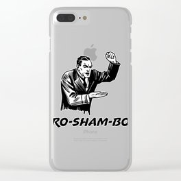 Funny Ro Sham Bo Clear iPhone Case