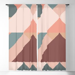 Geometric Mountains 01 Blackout Curtain