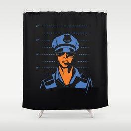 Dirty Cop Mugshot Police Brutality Art Print Shower Curtain