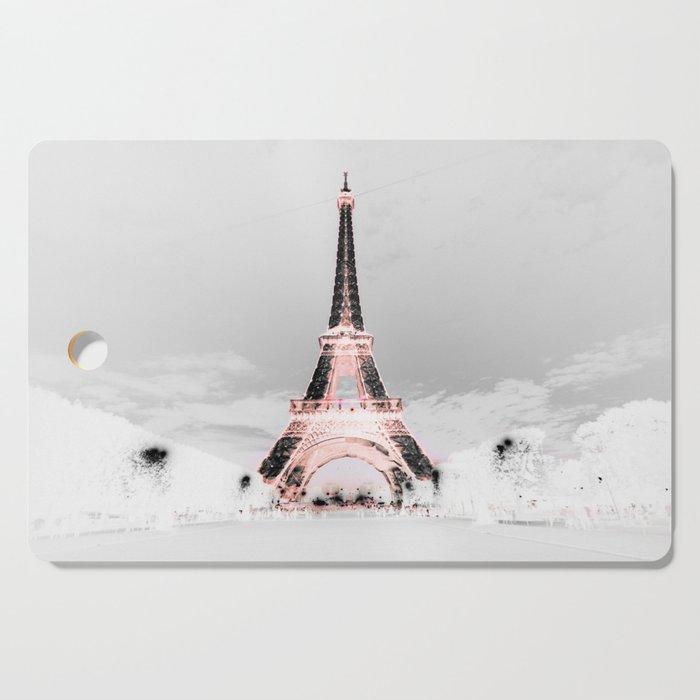 pariS Black & White + Pink copyright 2sweet4wordsDesigns Cutting Board