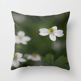 Canada anemone Throw Pillow