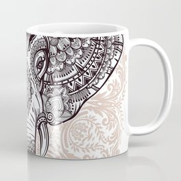 Elephant on Mandala Coffee Mug