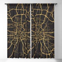 MUNICH GERMANY GOLD ON BLACK CITY MAP Blackout Curtain