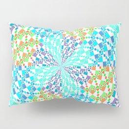 Vintage Whirlwind Spiral Quilt Patchwork Pillow Sham