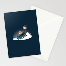 A Snowy Ride Stationery Cards