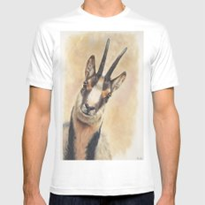 chamois White Mens Fitted Tee MEDIUM