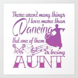 Dancing Aunt Art Print