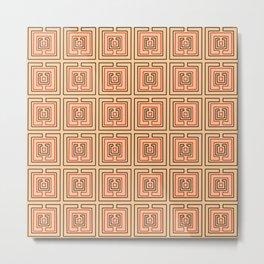 Antic pattern 7- greek labyrinth Metal Print