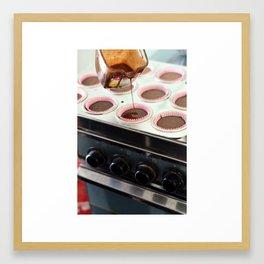 Chocolate cupcakes Framed Art Print