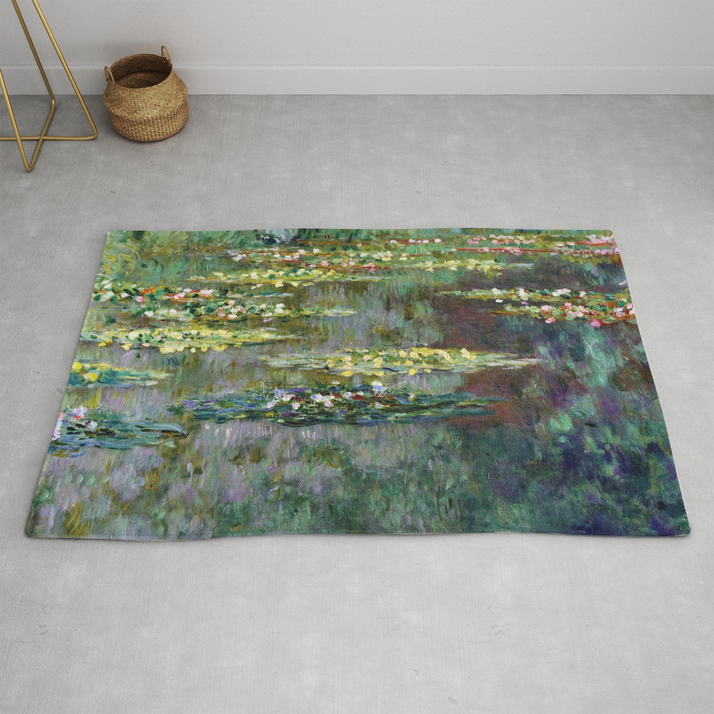 Claude Monet Le Bin Des Nympheas Rug