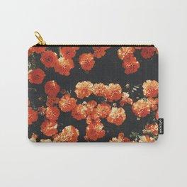 Orange flower fleurs Carry-All Pouch