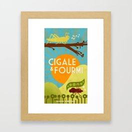 Cigale & Fourmi Framed Art Print