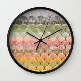 Watercolor art decó pattern Wall Clock
