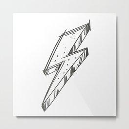 Lightning Bolt Illustration Metal Print
