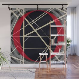 Crossrods - red graphic Wall Mural