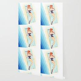 Red Haired Bouffant Beach Blanket Bombshell Wallpaper