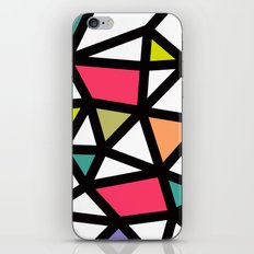 White lines & colors pattern #2 iPhone & iPod Skin