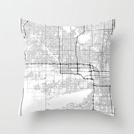 Minimal City Maps - Map Of Phoenix, Arizona, United States Throw Pillow