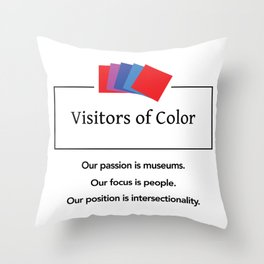 Visitors of Color Throw Pillow