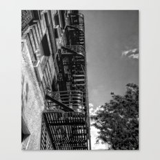 fire escape - building in manhattan, nyc Canvas Print