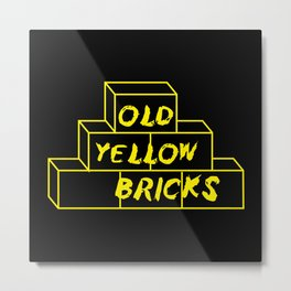 Old Yellow Bricks Metal Print