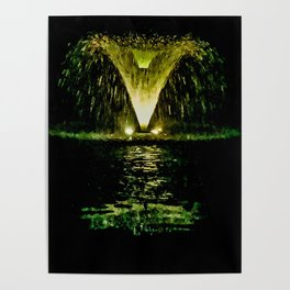 Cemetery Water Fountain Poster