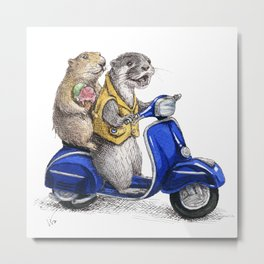 Vespa Ride Metal Print