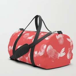 Cutie-Koi   Red Duffle Bag