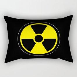 radioactive symbol Rectangular Pillow