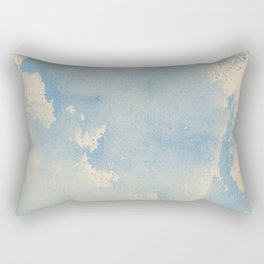Vintage chic pastel blue ivory watercolor paint texture pattern Rectangular Pillow
