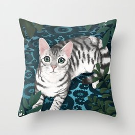 the secret night life of cats Throw Pillow