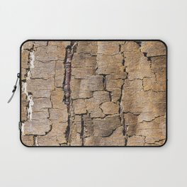 Brown tree trunk with abstract patterns and textures Laptop Sleeve