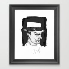 the brit Framed Art Print