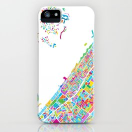 Dubai Colorful Vector Map iPhone Case