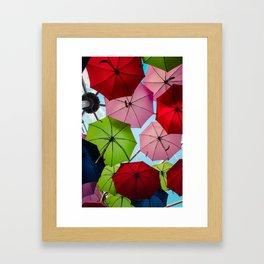Colorful umbrellas. Framed Art Print