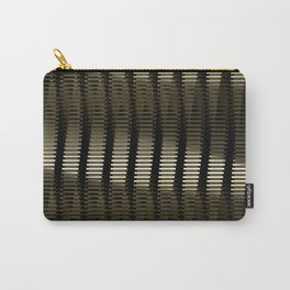 Spinning Columns - Gold - Futuristic Industrial Sci-Fi Pattern Carry-All Pouch