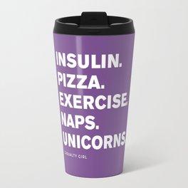Insulin Pizza Naps (Royal Lilac) Travel Mug