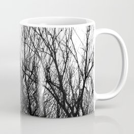 Black white modern abstract tree branch pattern Coffee Mug