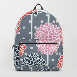 Blossom pattern with dots Backpack