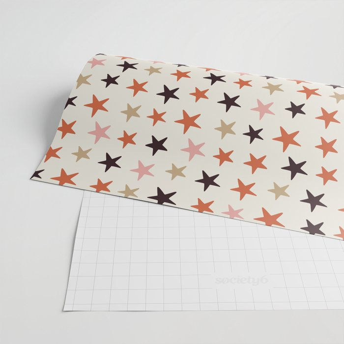 Star Pattern Color Wrapping Paper