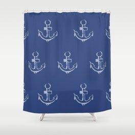 Ancre de bateau (estampe) Shower Curtain