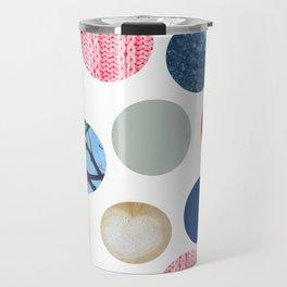 Winter Poka Dot Collage Travel Mug