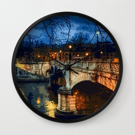 Rome, romantic nights Wall Clock