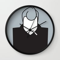 james franco Wall Clocks featuring James by Ale Giorgini