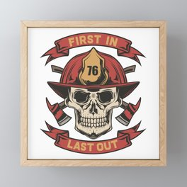 19 Firefighter_3 Framed Mini Art Print