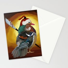 Warrior Duck Stationery Cards