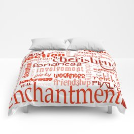 What Is Love Synonyms For Love Word Cloud Comforters
