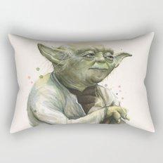 Yoda Jedi Portrait Sci-Fi Rectangular Pillow