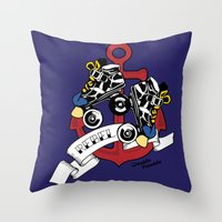 rebel Throw Pillows featuring Rebel! by Double Trouble