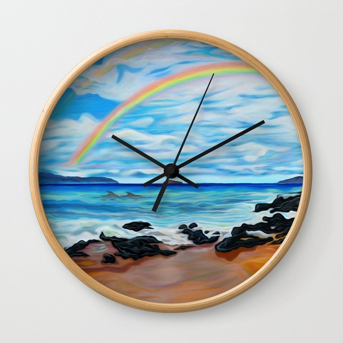 A Happy Place Wall Clock